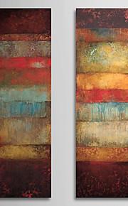 Hang malte oljemaleri Håndmalte - Abstrakt Klassisk Realisme Lerret