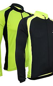 Arsuxeo Homme Maillot de Cyclisme Vélo Maillot / Veste / Hauts / Top Garder au chaud, Séchage rapide, Respirable Mosaïque Polyester,