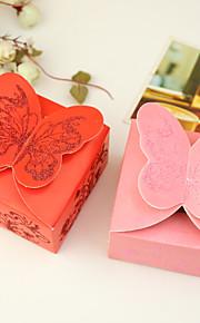 Créatif Rectangulaire Papier durci Titulaire de Faveur avec Motif Boîtes à cadeaux