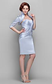05534d4989f9 Ίσια Γραμμή Καρδιά Μέχρι το γόνατο Σατέν Φόρεμα Μητέρας της Νύφης με Χάντρες    Διακοσμητικά Επιράμματα