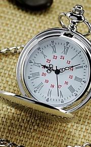 남성용 회중 시계 석영 실버 아날로그 빈티지 - 실버 1 년 배터리 수명 / SODA AG4