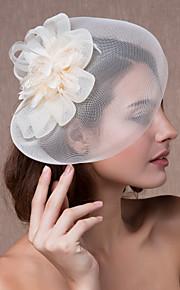 קריסטל בד אורגנזה Tiaras מפגשים פרחים כובעים 1 חתונה מסיבה\אירוע ערב כיסוי ראש
