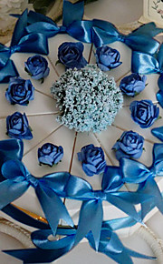 Pyramid Card Paper Favor Holder with Ribbons Flower Favor Boxes - 10