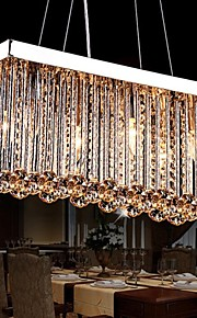 6 lumières Cristal Lustre Lumière dirigée vers le bas - Cristal, 110-120V / 220-240V Ampoule non incluse / 30-40㎡ / E12 / E14