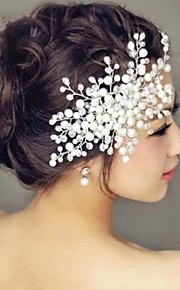 שיער פנינה מסרקים headpiece מסיבת החתונה אלגנטי בסגנון נשי