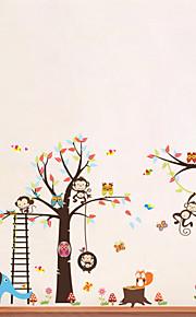 Tiere Cartoon Design Wand-Sticker Flugzeug-Wand Sticker Dekorative Wand Sticker, Vinyl Haus Dekoration Wandtattoo Wand