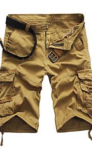 Ανδρικά Στρατιωτικό Μεγάλα Μεγέθη Ίσια Σορτσάκια Παντελόνι Μονόχρωμο