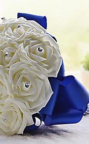 Fleurs de mariage Bouquets Mariage Fête / Soirée Cristal Strass Satin Mousse 28cm