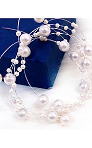 Imitation de perle Chaîne de tête 1 Mariage Occasion spéciale Casque