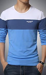 Ανδρικά Μεγάλα Μεγέθη T-shirt Αθλητικά Βαμβάκι Μονόχρωμο / Συνδυασμός Χρωμάτων / Μακρυμάνικο