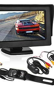 Monitorování reverzace vozu4,3 palce displej / led licenční kamera / bezdrátový vysílač a přijímač