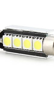 42mm 4 smd led ampoule blanche 5500k dc 12v haute qualité lecture lumière