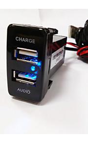 Led scherm Auto MP3 FM Modulator 1 USB-poort Alleen oplader DC 5V/2A