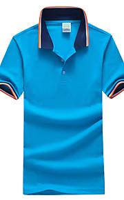 男性用 スポーツ - ベーシック プラスサイズ Polo シャツカラー スリム カラーブロック コットン / 半袖