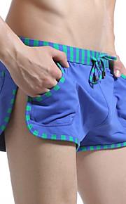 男性用 スポーティー グリーン ブルー ダークグレイ スイミングトランクス ボトムス スイムウェア - カラーブロック パッチワーク M L XL グリーン / 夏 / 1個 / スーパーセクシー