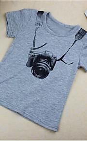 Småbarn Pojkar Kortärmad Bomull T-shirt Grå