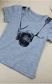 Toddler Genç Erkek Kısa Kollu Pamuklu Tişört Gri