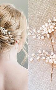真珠 / クリスタル  -  ヘアコンビ / ヘアスティック 1 結婚式 / パーティー かぶと