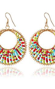 Dame 1 Dråbeøreringe Mode Legering Cirkelformet Smykker Guld Bryllup Kostume smykker