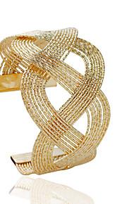 Damen Manschetten-Armbänder - Modisch Rohrform Silber Golden Armbänder Für