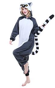 어른' 올인원 캐릭터 파자마 여우 원숭이 동물 점프수트 파자마 폴라 플리스 잉크 블루 코스프레 에 대한 남자와 여자 동물 잠옷 만화 페스티발 / 홀리데이 의상