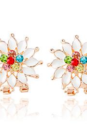 Damen - Modisch Weiß Blume Ohrringe Für Hochzeit