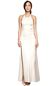 Women's Party Plus Size / Sexy / Vintage Dress,Solid Midi Sleeveless White Polyester / SpandexAll Seasons / Spring / Summer /