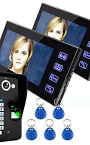 Ennio toccare chiave di sistema videocitofonico impronta digitale citofono 7 a cristalli liquidi con incantevoli di controllo di accesso