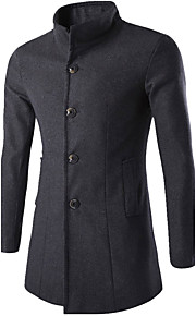 Men's Work Simple Casual Slim Jacket-Solid Colored Stand