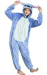 어른' 코스프레 코스츔 할로윈 용품 올인원 캐릭터 파자마 만화 푸른 괴물 점프수트 파자마 플란넬양털 블루 코스프레 에 대한 남자와 여자 동물 잠옷 만화 페스티발 / 홀리데이 의상