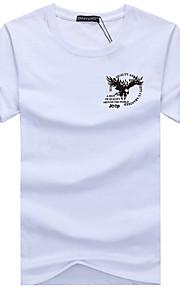 Hombre Básico Deportes Tallas Grandes Estampado - Algodón Camiseta, Escote Redondo Delgado Geométrico Gris XXXL / Manga Corta / Verano