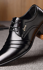 Pánské Společenské boty mikrovlákno Jaro / Podzim Business Oxfordské Chůze Černá / Šněrování / Rozdělení / Komfortní boty