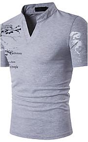 男性用 プリント Polo 活発的 スタンド スリム グラフィック コットン / 半袖