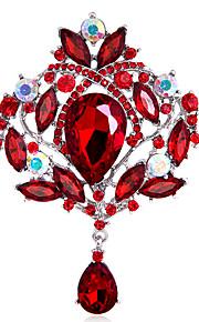 Dames Broches - Strass Kroon Gepersonaliseerde, Modieus, Euramerican Broche Blauw / Zwart / Regenboog Voor Bruiloft / Feest / Speciale gelegenheden / Dagelijks