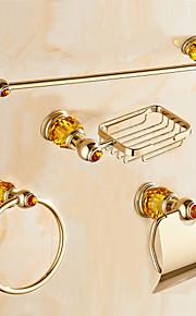 Bad Zubehör-Set Moderne Messing 4pcs Turmring Seifenschale Turm Bar Toilettenpapierhalter
