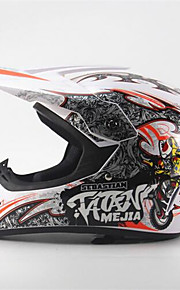 mejia off-road motocyklová závodní přilba full face tlumení odolná motorová helma bílá / oranžová barva