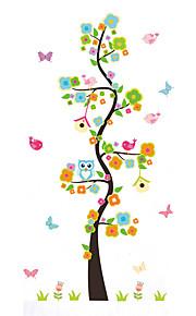 Dyr Tegneserie Botanisk Vægklistermærker Fly vægklistermærker Dekorative Mur Klistermærker, Vinyl Hjem Dekoration Vægoverføringsbillede