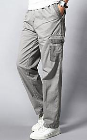 男性用 活発的 プラスサイズ コットン ルーズ ストレート / スウェットパンツ / カーゴパンツ パンツ - ソリッド グレー / 週末