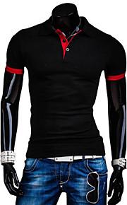 Ανδρικά T-shirt Βαμβάκι Μονόχρωμο Ροζ L / Κοντομάνικο
