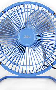 3682 6 Inch Mini Metal Material Rubber Feet Aluminum Fan Blade USB Fan with 120cm Cable