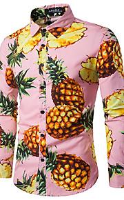 Erkek Pamuklu Gömlek Desen, Meyve Çalışma Ananas Havuz L / Uzun Kollu / Sonbahar