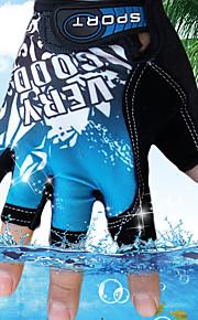 男性用 ソークオフ / 屋外 / スポーツ カラーブロック ハーフフィンガー 手袋