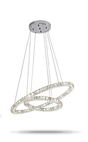 Lustre Lumière d'ambiance - Cristal, Ajustable, Intensité Réglable, 110-120V / 220-240V, Dimmable avec télécommande, Source lumineuse de