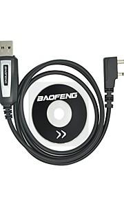 Professionelt usb programmeringskabel med cd baofeng uv-5r uv-5ra uv-b5 uv-82 bf-888s bf-666s til bærbar radio