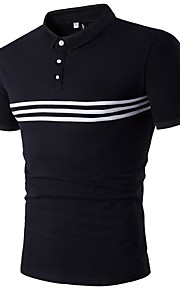 男性用 スポーツ Polo 活発的 ストライプ / 半袖