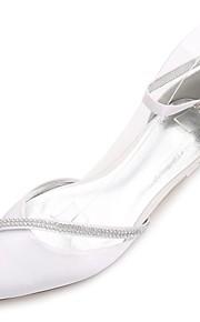 Dámské Satén Jaro   Léto Pohodlné   Balerínky   D´Orsay Svatební obuv Rovná  podrážka 5606bf940c