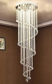 7 lumières Lustre Lumière dirigée vers le bas - Cristal, Ampoule incluse, Designers, 110-120V / 220-240V, Blanc Crème / Blanc Neige,
