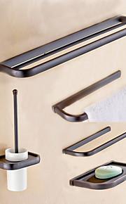 Bad Zubehör-Set Gute Qualität Antike Metal 5 Stück - Hotelbad Toilettenbürstehalter Seifenschale Turm Bar Toilettenpapierhalter