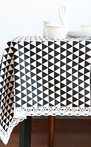 Mélange Lin/Coton Suorakulma Neliö Table Cloths Geometrinen Ekologinen Pöytäkoristeet