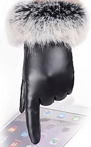 30 Γυναικεία Μονόχρωμο Μονόχρωμο   Αξεσουάρ   Χειμερινά Γάντια PU Μέχρι τον  καρπό Ακροδάχτυλα Γάντια   Χειμώνας d56a36426d6